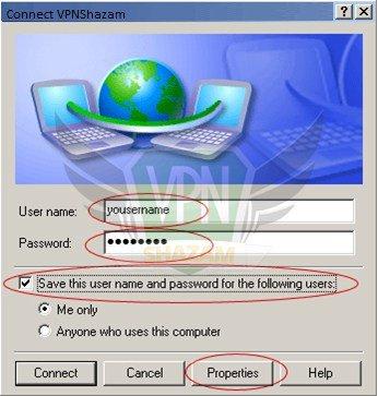 WindowsXP VPN Setup step10