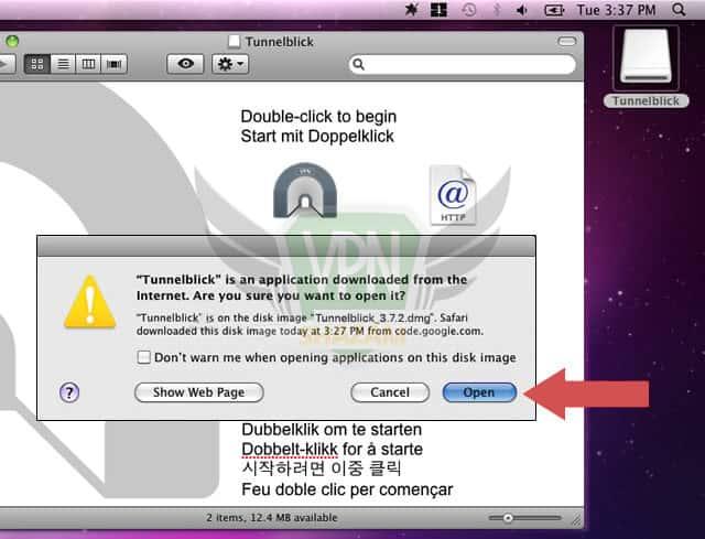 Mac OpenVPN Setup step5