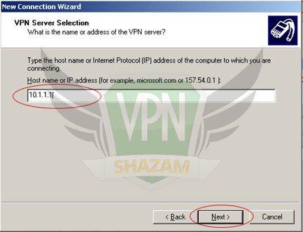 WindowsXP VPN Setup step8