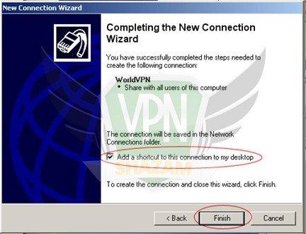 WindowsXP VPN Setup step9