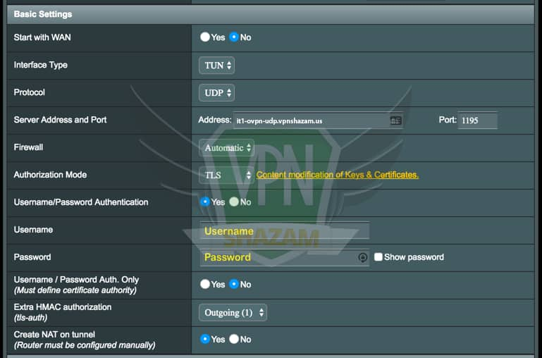 Asus Setup VPN step6